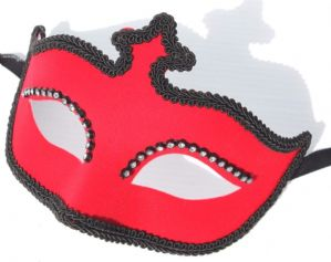 Red Masquerade Mask - Velvet Mask | Masks and Tiaras